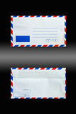 Envelope. Back and front side isolated on black Royalty Free Stock Photo
