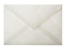 Envelope. Back side of white paper envelope isolated on white Stock Images