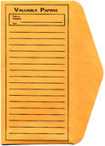 Envelope. Vintage yellow envelope to store the valuable papers stock photo