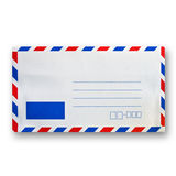 Envelope. Front side of envelope isolated on white Stock Photos