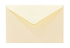 Envelope. Yellow envelope isolated on white Royalty Free Stock Photography