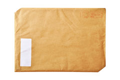 Envelope. Stamped with a large brown envelope stock images