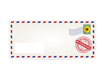 Envelope. Recomended postal envelope with space for name and addres royalty free illustration
