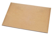 Envelope. A blank brown envelope on a white background Royalty Free Stock Image