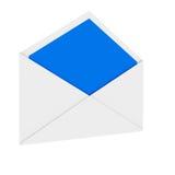 Envelope. 3d illustration of opened empty mail envelope vector illustration