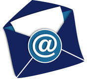 Envelope. With email symbol. Open royalty free illustration