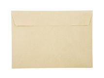 Envelope. Closed brown envelope isolated over white background Stock Image