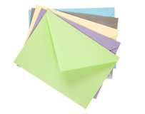 Envelope. Multicolored letters isolated on white background royalty free stock image