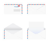 Envelope in 4 stages over white background Royalty Free Stock Photography
