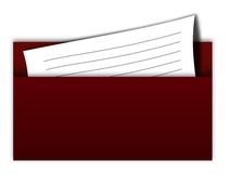 Envelope. Isolated on white background stock illustration