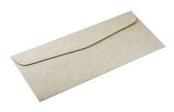 Envelope. Gray textured envelope isolated in white stock photography