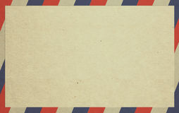 Envelope. A beige envelope with red and blue borders stock photos
