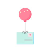 Envelope  air balloon Royalty Free Stock Image