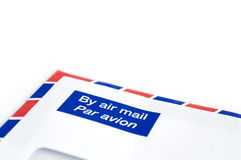 Envelope by air mail with white space for text Stock Photography