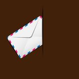 Envelope air in a mailbox Royalty Free Stock Photography