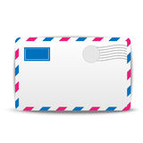 Envelope air on a white background Stock Photography