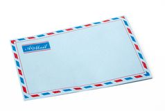 Envelope airmail. Envelope in isolated background royalty free stock photography
