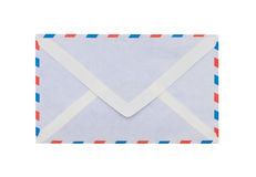 Envelope for airmail with clipping path Stock Photos