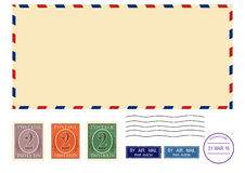 Envelope. Airmail envelope. Vector base for further processing. Without gradients on one layer Stock Photography