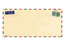 Envelope. Airmail envelope. Vector base for further processing. Without gradients on one layer Stock Photo