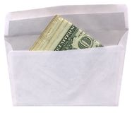 Envelope with american dollars isolated, Royalty Free Stock Image