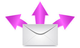 Envelope & arrows Royalty Free Stock Image