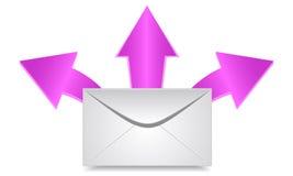Envelope & arrows. Vector illustration. Envelope & three arrows vector illustration
