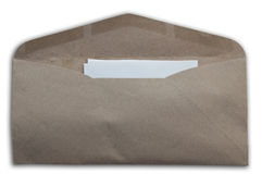 Envelope as white isolate background Royalty Free Stock Photos