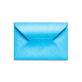 Envelope azul Fotografia de Stock Royalty Free