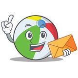 With envelope ball character cartoon style Royalty Free Stock Photography