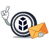 With envelope bancor coin character cartoon. Vector illustration Royalty Free Stock Images