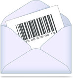 Envelope with bar code. Stock Photos