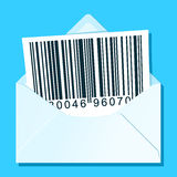 Envelope with bar code letter Royalty Free Stock Image