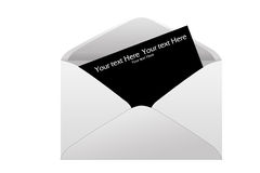 Envelope with black note Stock Photo