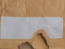 Envelope with blank label Stock Photography