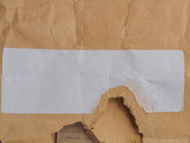 Envelope with blank label Royalty Free Stock Images