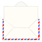 Envelope with blank letter Stock Image