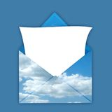 Envelope with blank note Royalty Free Stock Image