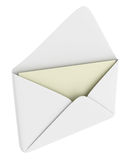 Envelope with blank paper Royalty Free Stock Photo