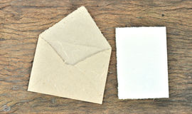Envelope and blank paper made by Mulberry paper Royalty Free Stock Photo