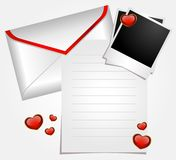 Envelope with blank photo frame Royalty Free Stock Image