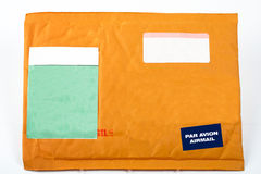 Envelope with blank stickers for text royalty free stock photos
