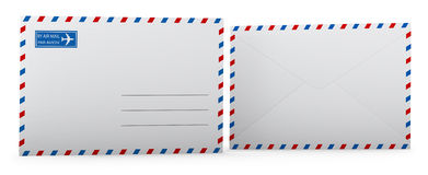 Envelope. Blank envelope template. Clipping path included for easy selection Royalty Free Stock Photo