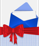 Envelope with  bow Royalty Free Stock Photography