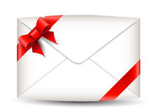 Envelope with bow Stock Images
