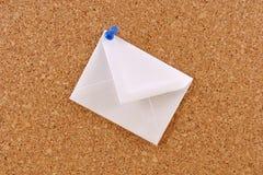 Envelope branco foto de stock