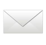 Envelope branco isolado Foto de Stock