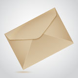 Envelope of brown paper. Inclined envelope of old brown paper letter Stock Image