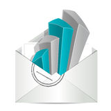 Envelope and business graph Stock Image