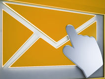 Envelope Button Shows Electronic Messaging Stock Photography